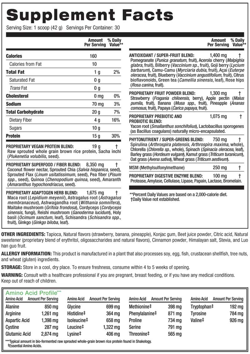 It is a graphic of Versatile Herbalife Total Control Nutrition Label